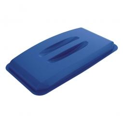 Deckel für Abfall- und Wertstoffbehälter 60 Liter, mit Griffen für leichtes Abnehmen, blau