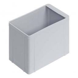 Einsatzkasten für Stapelbehälter 600x400 mm, LxBxH 137 x 87 x 110 mm, Farbe grau
