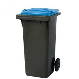 120 Liter MGB, Müllbehälter in anthrazit mit blauem Deckel