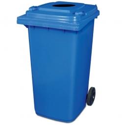 Müllbehälter mit Einwurfloch, BxTxH 580x730x1070 mm, 240 Liter, Farbe blau