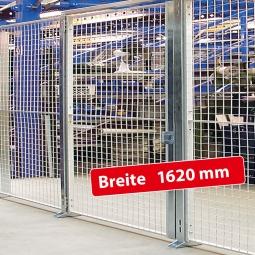 Maschinenschutz-Einzelflügeltür, Türbreite 1620 mm, Öffnungsmaß 1500 mm