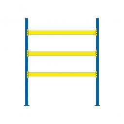 Palettenregal mit 3 Paar Tragbalken für 12 Europaletten, Fachlast 2900 kg/Tragbalkenpaar, BxTxH 2925x1100x3500 mm