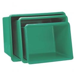 Rechteckbehälter aus GFK, Inhalt 100 Liter, grün, LxBxH 880x580x290 mm, Gewicht 5 kg
