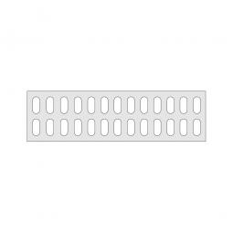 Gitterregalboden aus Kunststoff (Polystyrol), BxT 1350 x 380 mm, bestehend aus 3 Bodensegmenten