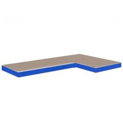 Zusatzebene, blau, Tragkraft 265kg/Ebene, BxT 900/1300x400 mm