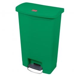 Tretabfalleimer SlimJim, 90 Liter, grün, BxTxH 570x353x826 mm, Polyethylen, Pedal an der Breitseite