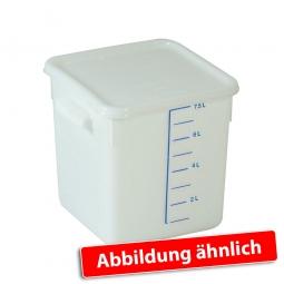Platzsparbehälter, viereckig, LxBxH 220 x 210 x 175 mm, 6 Liter, weiß