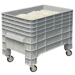 Mehlbox mit 4 Lenkrollen, LxBxH 1030 x 630 x 790 mm, 276 Liter, grau