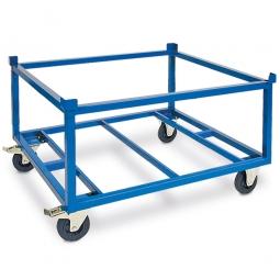 Fahrgestell, LxBxH 1235 x 1035 x 775 mm, Tragkraft 500 kg, Rad-ØxB 160x40 mm, Vollgummibereifung