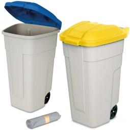 2-er Set mobile 100-Liter-Tonnen + 50 Müllbeutel, Spar-Set