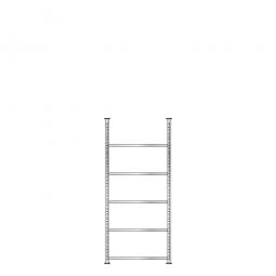 Ordnerregal mit 5 Böden, glanzverzinkt, Schraubsystem, BxTxH 750 x 300 x 1850 mm
