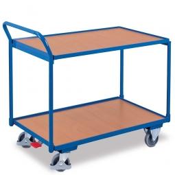 Tischwagen mit 2 Ebenen, LxBxH 1125x625x1010 mm, Tragkraft 250 kg