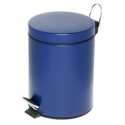 Tret-Abfalleimer, Inhalt 5 Liter, blau, HxØ 285x205 mm, Deckelöffnung mit Pedalmechanik