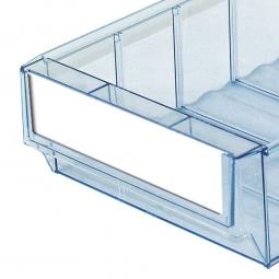 Etiketten für Klarsicht-Regalkästen B 183 mm, weiß, VE=100 Stück