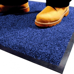 Eingangsmatte, LxB 850x600 mm, blau, Höhe 9 mm, Mattenrücken aus Nitril-Gummi, waschbar