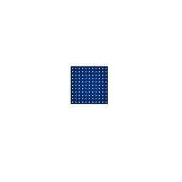 System-Lochplatte, BxH 500x450 mm, Aus 1,25 mm Stahlblech, kunststoffbeschichtet in saphirblau