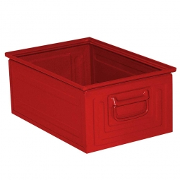 Stapelkasten ST3 aus Stahlblech, 25 Liter, LxBxH 450 x 300 x 200 mm, rot