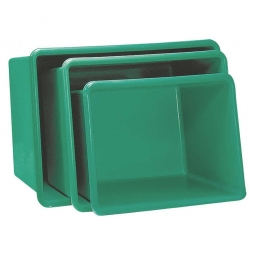 Rechteckbehälter aus GFK, Inhalt 550 Liter, grün, LxBxH 1320x970x630 mm, Gewicht 19 kg