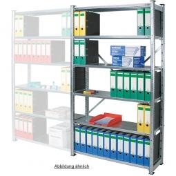 Fachbodenregal mit 6 Böden, Stecksystem, Grundregal, einseitige Ausführung, BxTxH 870 x 315 x 2000 mm, Oberfläche glanzverzinkt