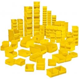 100-teiliges Sichtboxen-Set PROFI, PP, gelb, XXL-Set 1