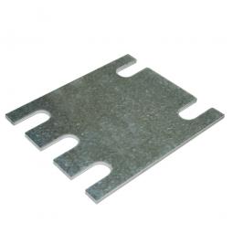 Bodenausgleichsplatte  für Fußplatten von Palettenregalen, 3 mm stark, aus verzinktem Stahlblech
