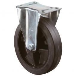 Transportgeräte-Bockrolle, Rad-ØxB 125x50 mm, Tragkraft 300 kg, schwarz