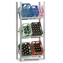 Getränkekistenregal, Grundregal, Stecksystem, BxTxH 1060 x 335 x 1750 mm, verzinkt