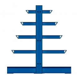 Kragarmregal, doppelseitige Ausführung, BxTxH 1000 x 400/600/800/1000/1200 x 2000 mm, Achsmaß1000 mm