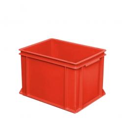 Eurobehälter mit 2 Griffleisten, LxBxH 400 x 300 x 270 mm, 26 Liter, rot