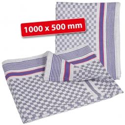 Grubentuch,  LxB 1000 x 500 mm, 100% Baumwolle, blau-weiß kariert