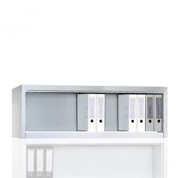 Aufsatzregal, 1 Ordnerhöhe, BxTxH 1200 x 500 x 500 mm, lichtgrau