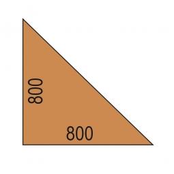 Verkettungsplatte, Eckwinkel 90°, Buche-Dekor, BxT 800x800 mm