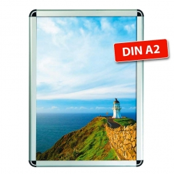 Wechselrahmen-Plakatrahmen, DIN A2, Plakatgröße BxH 420x594 mm, Rahmengröße BxH 450x624 mm