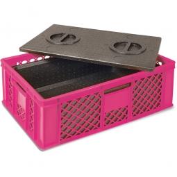 Eurobehälter mit EPP-Isolierbox, LxBxH 600 x 400 x 230 mm, 20 Liter, violett