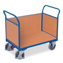 Dreiwandwagen mit Holzwänden, LxBxH 1180 x 700 x 990 mm, Tragkraft 500 kg