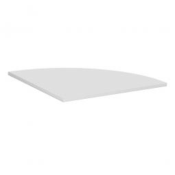 Verkettungsplatte, Viertelkreis 90° Komfort, Dekor lichtgrau, BxT 800x800 mm