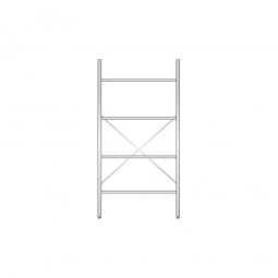 Aluminiumregal mit 4 Gitterböden, Stecksystem, BxTxH 1000 x 400 x 2000 mm, Nutztiefe 380 mm