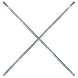 Edelstahl-Diagonalkreuz, für 600-1500 mm Regalbreite