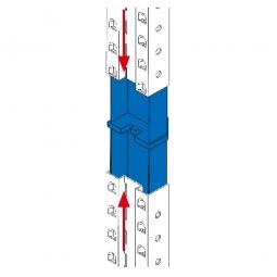 Aufstockadapter für Regalrahmen-Verlängerungen, Für 85 mm breite Regalstützen