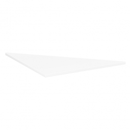 Verkettungsplatte ELEGANCE Dreieck 90°, Dekor weiß, BxT 800x800 mm