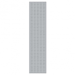System-Schlitzplatte BxHxT 450x2000x18 mm, Aus 1,25 mm Stahlblech, kunststoffbeschichtet in lichtgrau