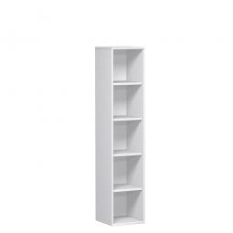 Büroregal PRO, 5 Ordnerhöhen, weiß, BxTxH 800x425x1920 mm