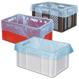 Einlegebeutel für Körbe, Behälter und Isoboxen, Polyethylen (PE-HD) blau-transparent, VE = 250 Stück