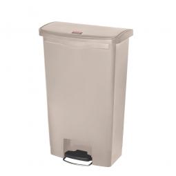 Tretabfalleimer SlimJim, 68 Liter, beige, LxBxH 500x311x803 mm, Polyethylen, Pedal an der Breitseite