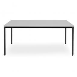 Rechtecktisch, Platte lichtgrau, Gestell schwarz, BxTxH 1600x800x720 mm