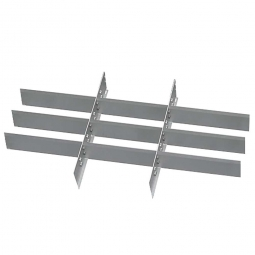 Metalleinteilung, 12 Fächer, Für Schubladen mit Innenmaß 800x450 mm