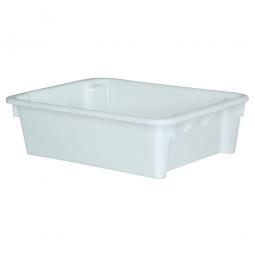 Drehstapelbehälter, LxBxH 800 x 600 x 220 mm, 80 Liter, weiß