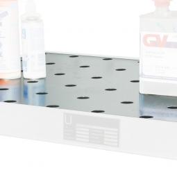 Lochblech-Rost für Kleingebindewanne 60 Liter, verzinkt, LxBxH 1850 x 600 x 60 mm