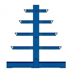 Kragarm-Anbauregal, doppelseitige Ausführung, BxTxH 1000 x 400/600/800/1000/1200 x 2000 mm, Achsmaß 1000 mm