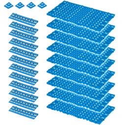 Bodenrost-Set, 25-teilig, blau, 3,4 m²